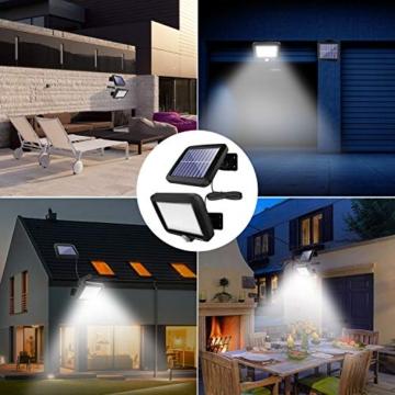 Benma - Lampade solari da esterni, luci solari da giardino con sensore di movimento, angolo di illuminazione 120°, 5 m, impermeabile, lampada da parete per giardino(cavo 16,5 ft) - 4