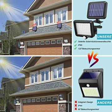 Benma - Lampade solari da esterni, luci solari da giardino con sensore di movimento, angolo di illuminazione 120°, 5 m, impermeabile, lampada da parete per giardino(cavo 16,5 ft) - 5