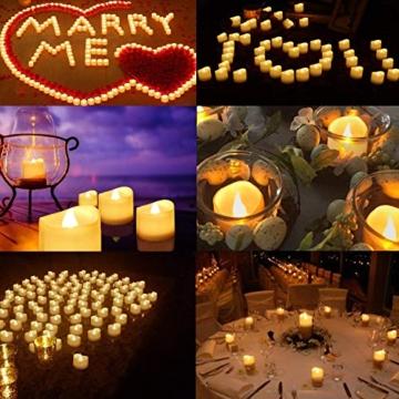 Candele a LED Senza Fiamma Portò Candele Flickering Flameless,per Decorazione di Casa Camera Natale Partito Matrimoni Compleann 14pack - 2
