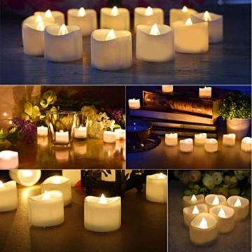 Candele a LED Senza Fiamma Portò Candele Flickering Flameless,per Decorazione di Casa Camera Natale Partito Matrimoni Compleann 14pack - 3