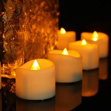 Candele a LED Senza Fiamma Portò Candele Flickering Flameless,per Decorazione di Casa Camera Natale Partito Matrimoni Compleann 14pack - 4