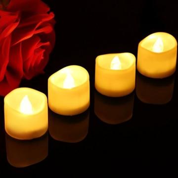 Candele a LED Senza Fiamma Portò Candele Flickering Flameless,per Decorazione di Casa Camera Natale Partito Matrimoni Compleann 14pack - 5