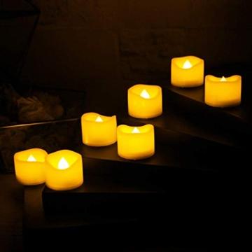 Candele a LED Senza Fiamma Portò Candele Flickering Flameless,per Decorazione di Casa Camera Natale Partito Matrimoni Compleann 14pack - 6