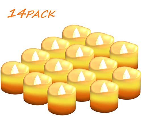 Candele a LED Senza Fiamma Portò Candele Flickering Flameless,per Decorazione di Casa Camera Natale Partito Matrimoni Compleann 14pack - 1