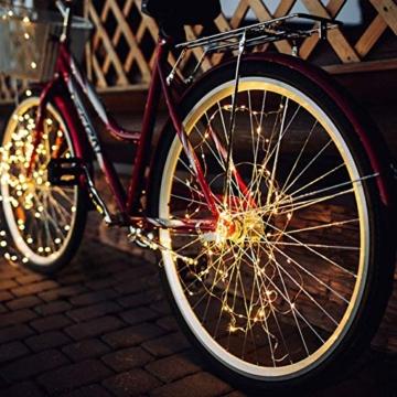Catena Luminosa Solare, [2 Pezzi] Kolpop 26M Stringa Luci Solari 240 LED / 8 Modi, Impermeabili Luci Decorative da Interni e Esterni per Festa, Giardino, Natale, Halloween, Matrimonio (Bianco Caldo) - 5