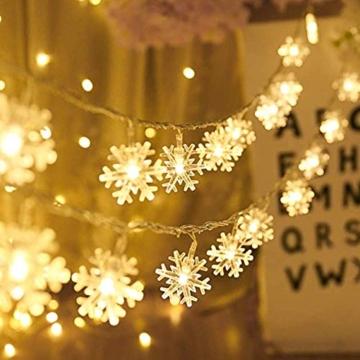 Catena Luminosa,Led Fiocco Di Neve Catena Luci,Natalizie A Forma Di Fiocco,Stringa Fata Luce,Per La Decorazione Casa Natale Partito - 2