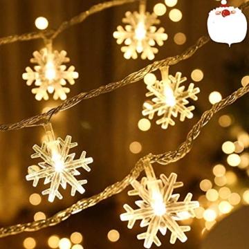 Catena Luminosa,Led Fiocco Di Neve Catena Luci,Natalizie A Forma Di Fiocco,Stringa Fata Luce,Per La Decorazione Casa Natale Partito - 1