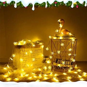 Catena Luminosa,Led Fiocco Di Neve Catena Luci,Natalizie A Forma Di Fiocco,Stringa Fata Luce,Per La Decorazione Casa Natale Partito - 5