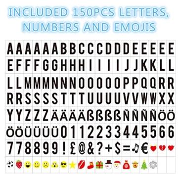 Cinematic, scatola luminosa con 150 lettere, numeri ed emoji, formato A3, segnale LED per la decorazione della casa, festa di Natale, matrimonio, compleanno, regalo ideale di Natale - 3