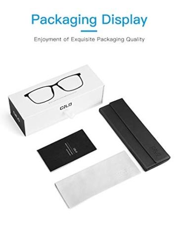 CNLO - Occhiali per computer, protezione dalle radiazioni, protezione dai raggi UV, antiocchiali, lenti con montatura leggera, per uomo/donna cristallo. - 3