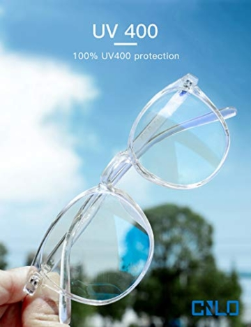 CNLO - Occhiali per computer, protezione dalle radiazioni, protezione dai raggi UV, antiocchiali, lenti con montatura leggera, per uomo/donna cristallo. - 4