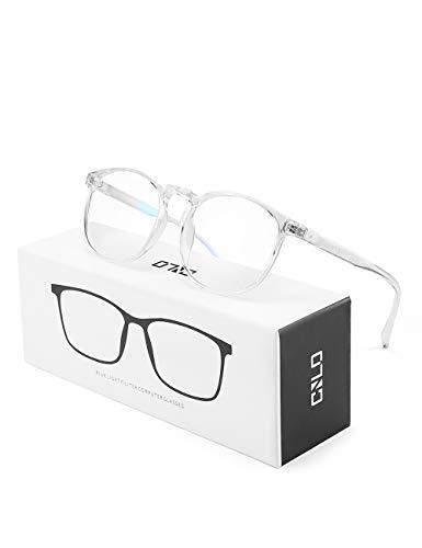CNLO - Occhiali per computer, protezione dalle radiazioni, protezione dai raggi UV, antiocchiali, lenti con montatura leggera, per uomo/donna cristallo. - 1