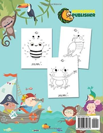 Collega i Puntini: Il Miglior Libro per Bambini. Collega i Punti in Ordine Numerico dal più Semplice a Quello più Difficile. Età da 3 ai 10 anni. - 2