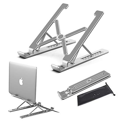 Conpro Supporto Ventilato PC Portatile, Supporto Notebook Alluminio, Laptop Stand, Supporto Laptop Regolabile, Accessori per MacBook, dell, Lenovo, HP, Tablet, Altri Laptop (10-18 Pollici) - 1
