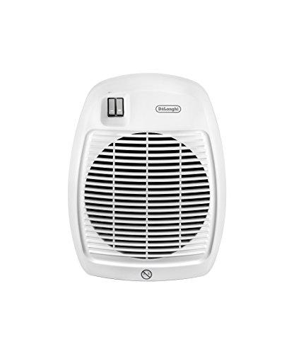 De'Longhi Termoventilatore HVA 0220, Solamente per Riscaldamento, 1000/2000 W, Per stanze fino a 60 m³, Bianco - 1