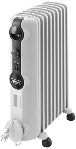 De'Longhi TRRS0920 Radiatore ad Olio Elettrico, 9 elementi, 2000W, 3 livelli di potenza, Bianco - 1