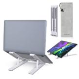 """dodocool Supporto PC Portatile, Ergonomico Alluminio Laptop Supporto, Angolazione Regolabile Portatile Pieghevole Stand, per MacBook Air/PRO, Huawei Matebook, dell, XPS, e Altri Laptop da 8""""-17,3"""" - 1"""