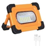 Elekin Faro Luce LED Portatile, 60W Lampada LED Esterni 3000LM Lampada da Lavoro a LED Ricaricabile con Cavo USB LED Esterni con Batteria Integrata Lavoro da Campeggio Lamp 4 Modalità - 1
