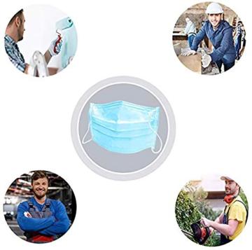 Eventronic Mascherina 50 pezzi di protezione Mascherina protettiva monouso a tre strati Maschera di protezione Filtro elastico elastico traspirante e confortevole - 2