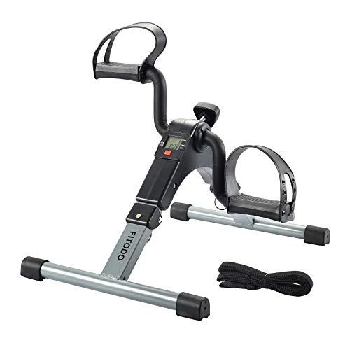 FITODO Pedal Trainer Pedale della Bici Mini Bike Esercizio Pedale Exercycle con Monitor LCD per Il Recupero di Braccia e Gambe(Grigio) - 1