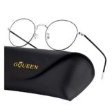 GQUEEN Occhiali da Computer Rotondi Anti-Affaticamento con Lenti Trasparenti GQ129 - 1