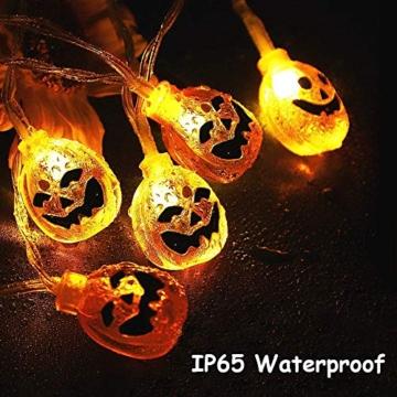 Halloween Luci Stringa, Luci Zucca Halloween Luminosa Luci Decorative, Alimentazione a Batteria e USB, 3M 20 LED Zucca Luci Della Stringa per Casa Cortili Festa Giardino Halloween Decorazione - 2