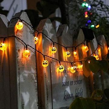 Halloween Luci Stringa, Luci Zucca Halloween Luminosa Luci Decorative, Alimentazione a Batteria e USB, 3M 20 LED Zucca Luci Della Stringa per Casa Cortili Festa Giardino Halloween Decorazione - 4