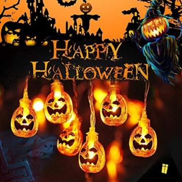 Halloween Luci Stringa, Luci Zucca Halloween Luminosa Luci Decorative, Alimentazione a Batteria e USB, 3M 20 LED Zucca Luci Della Stringa per Casa Cortili Festa Giardino Halloween Decorazione - 1
