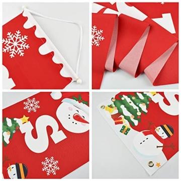 heekpek 2 Pezzi Banner di Natale Benvenuto Buon Natale Portico Segno Banner Distico di Natale Casa Porta Benvenuto Natale Porta Decor Outdoor Indoor Decorazioni Natalizie - 5