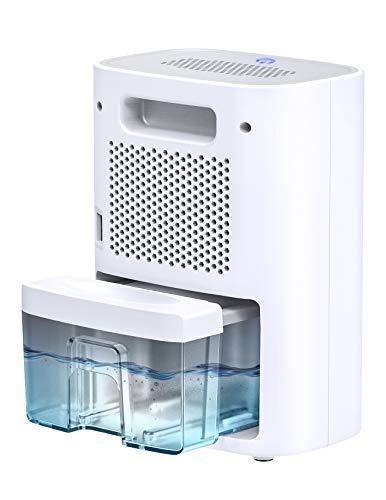Hommak Deumidificatore Ambiente Casa, 700ml Dehumidifier Portatile, Modalità Sonno Silenziosa 28 dB con LED Indicatore, Auto-spegnimento, One Touch Design per Camera da Letto, Ufficio, Guardaroba, 20㎡ - 1