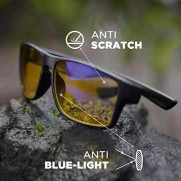 Horus X - Occhiali luce blu gaming con filtro anti luce blu >90% - Occhiali riposanti per gamer PC TV - 3