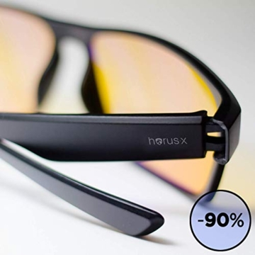 Horus X - Occhiali luce blu gaming con filtro anti luce blu >90% - Occhiali riposanti per gamer PC TV - 4