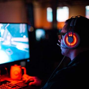 Horus X - Occhiali luce blu gaming con filtro anti luce blu >90% - Occhiali riposanti per gamer PC TV - 6