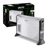 Imetec Eco Rapid TH1-100 Stufa Elettrica 2000 W con Tecnologia a Basso Consumo Energetico, Termoconvettore 4 Temperature, Termostato Ambiente, Silenzioso - 1