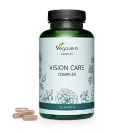 Integratore OCCHI Vegavero® | con Luteina, Zeaxantina, Mirtillo Nero, Betacarotene (Vitamina A), Riboflavina e Zinco | Salute della VISTA | 120 capsule | Vegan - 1