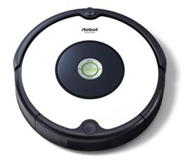 iRobot Roomba 605 Robot Aspirapolvere, Sistema di Pulizia ad Alte Prestazioni, Adatto a Pavimenti e Tappeti, Ottimo per i Peli degli Animali Domestici, 33 watt, Autonomia fino a 1 ora, Bianco - 1