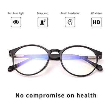 JAVIOL Occhiali Anti Luce Blu per Computer TR90 occhiali da gioco nero per PC/Telefono/Pad/TV, Anti-abbagliamento/Anti-Affaticamento/Evita Mal di Testa Aaffaticamento degli Occhi - 3