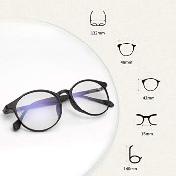 JAVIOL Occhiali Anti Luce Blu per Computer TR90 occhiali da gioco nero per PC/Telefono/Pad/TV, Anti-abbagliamento/Anti-Affaticamento/Evita Mal di Testa Aaffaticamento degli Occhi - 6