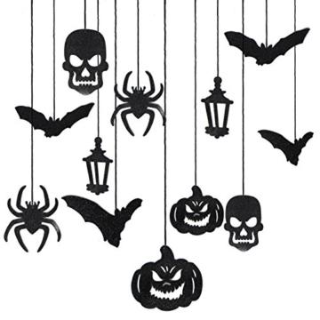 JOYIN Halloween Party Decorazione Casa Kit Haunted House Chandelier Addobbi Set di Decorazioni da Appendere al Soffitto e Applique da Parete - 4