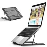 JUMKEET Supporto per Tablet Laptop, Supporto di Raffreddamento per Laptop Desktop Ventilato Pieghevole Portatile, Vassoio Ergonomico Universale Regolabile per iM(AC)/Laptop/Computer Portatile/Tablet - 1
