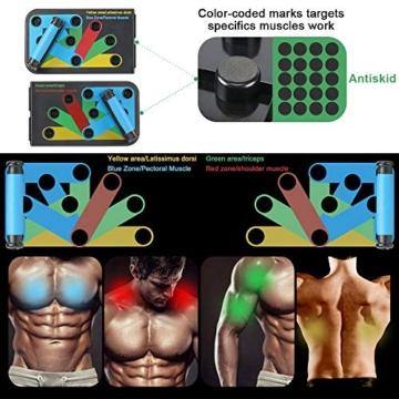 Aurorast Fitness Workout Set 4 Pezzi- Elastici Fitness | Push-up Board 13 in 1| AB Wheel Roller Addominali con Tappetino | Corda per Saltare, Attrezzi Palestra per casa - 5