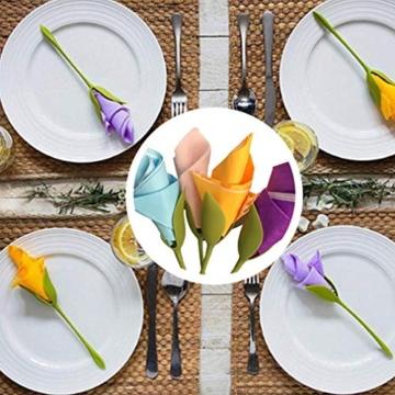 Katherinabait portatovaglioli Portatovaglioli Fiori Floral Flower Napkin Holder,16pcs Portatovaglioli a Forma di Fiore - 4