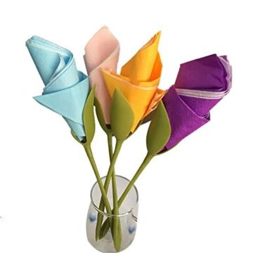 Katherinabait portatovaglioli Portatovaglioli Fiori Floral Flower Napkin Holder,16pcs Portatovaglioli a Forma di Fiore - 7
