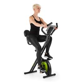 KLAR FIT Klarfit X-Bike XBK700 2.0 Fitness Vibe - Bici Cardio, Ergometro, Pieghevole, Fitness Bike, Computer di Allenamento, Cardiofrequenzimetro, Sella Ergonomica, Resistenza a 8 Livelli, Verde-Nero - 1