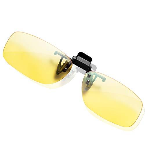 KLIM™ OTG Clip on lenti Occhiali per Bloccare la Luce Blu, Alta Protezione per schermo, Lenti Clip-on da Gaming per Giocare, per PC Telefono TV, Contro Affaticamento Occhio, Anti UV Anti Luce Blue - 1