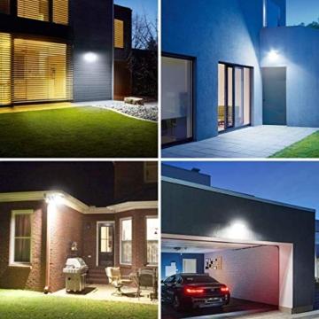 LE Faretto LED da Esterno 30W(2 Pezzi), 3000 lumen Bianco Diurno 5000K, Proiettore Faro LED da Esterno Impermeabile IP65, Luce per Giardino, Corridoio, Illuminazione Interna ed Esterna - 8