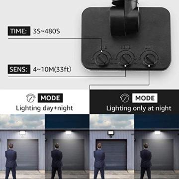 LE Faretto LED da Esterno con PIR Sensore di Movimento, 30W 3000 lumen Bianco Diurno 5000K, Proiettore Faretto da Esterno Impermeabile IP65 per Giardino, Corridoio, Illuminazione Interna ed Esterna - 9
