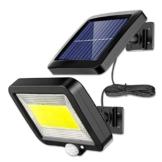 Luce Solare LED Esterno, ENJOY Lampada Solare con Sensore di Movimento cavo 16 piedi 100 LED Luce da Esterno, 270° Di Illuminazione con 3 Modalità, Impermeabile IP65 per cortile, giardino - 1