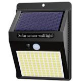 Luce Solare LED Esterno,HepsideFaretti Solari da Giardino Lampada Solare con Sensore di Movimento Impermeabile Faretti Solari a Led da Esterno Lampade Solari a Led da Esterno - 1
