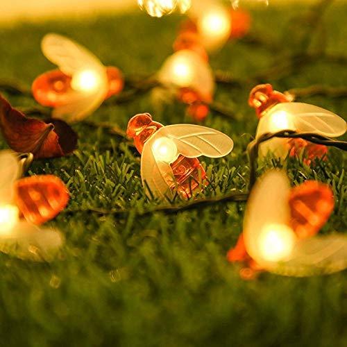 Luce Stringa Solare, 50 LED 8 Modalità Luci della stringa solare delle api del miele per Giardino, Casa, Feste, Natale, Matrimonio, Prato, Cortile, Albero di Natale Decorazioni - 1